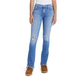 The Runaway Step Fray Hem Bootcut Jeans