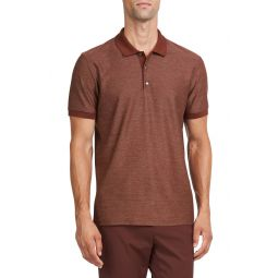 Micro Grid Short Sleeve Polo
