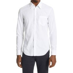 Faux Pocket Button-Up Shirt