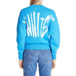 Graffiti Logo Wool Blend Sweater