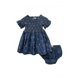 Marlowe Smocked Embroidered Dress & Bloomers
