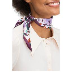 fleur noveau silk bandana scarf
