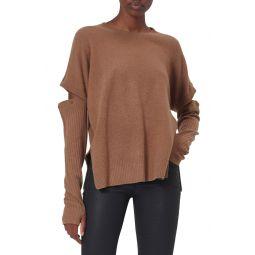 Emerielle Convertible Sleeve Wool Blend Sweater