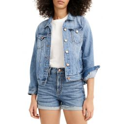 High Waist Eco Denim Shorts