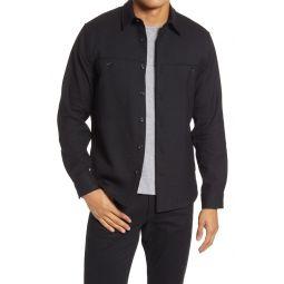 Mens Button-Up Workwear Shirt Jacket