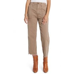 The Private Frayed Patch Pocket Crop Pants