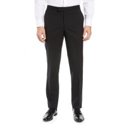 Slim Fit Stretch Wool Tuxedo Dress Pants