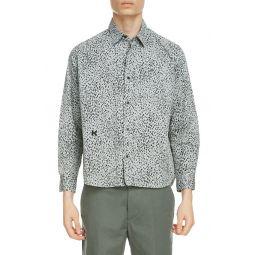 Cheetah Print Button-Up Shirt