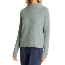 Funnel Neck Boiled Cashmere Sweater