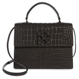 Jitney 2.8 Croc Embossed Leather Satchel