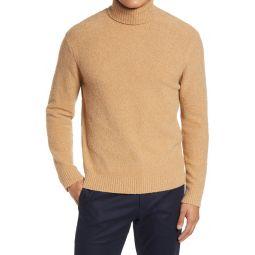 Boucle Cotton Blend Turtleneck Sweater