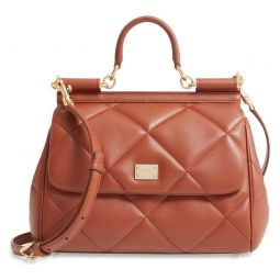 Medium Sicily Matelasse Leather Satchel