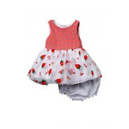 Gingham Strawberry Sleeveless Dress