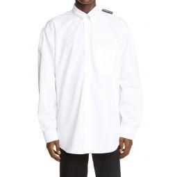 Logo Tab Button-Down Shirt