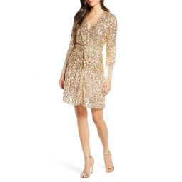 Emille Sparkle Long Sleeve Sequin Sheath Dress