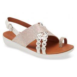 Scallop Embellished Sandal
