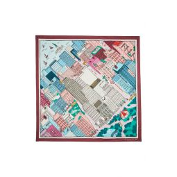 aerial nyc map silk square scarf