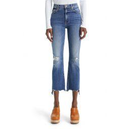 The Insider High Waist Crop Step Chew Hem Jeans