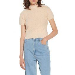 Cotton & Alpaca Blend Short Sleeve Sweater