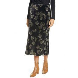 Fallen Leaf Velvet Slip Skirt