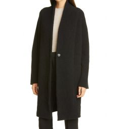 Collarless Cardigan Coat