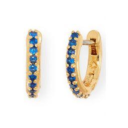 tiny twinkles pave huggie hoop earrings