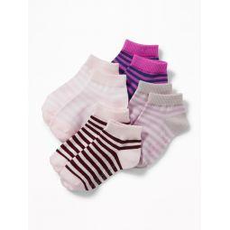 Ankle Socks 4-Pack For Toddler Girls & Baby