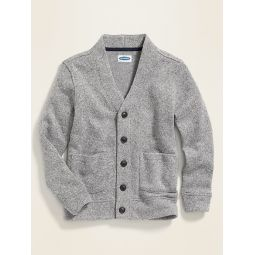 Button-Front Sweater-Fleece Cardigan for Boys