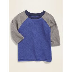 Color-Block Raglan Tee for Toddler Boys