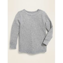 Thermal-Knit Long-Sleeve Tee for Toddler Boys
