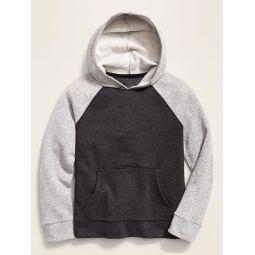 Color-Blocked Raglan-Sleeve Pullover Hoodie for Boys