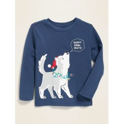 Holiday-Graphic Tee for Toddler Boys
