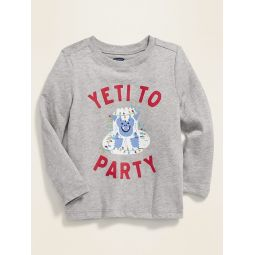 Holiday-Graphic Crew-Neck Tee for Toddler Boys