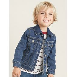 Built-In Flex Jean Jacket for Toddler Boys