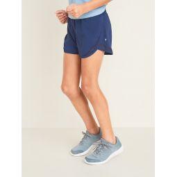 Go-Dry Cool Dolphin-Hem Run Shorts for Girls