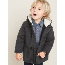 Sweater-Fleece Hooded Coat for Toddler Boys