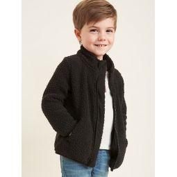 Sherpa Mock-Neck Zip Jacket for Toddler Boys