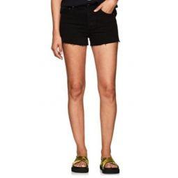 High Rise Denim Cutoff Shorts