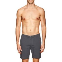 Calder Striped Seersucker Swim Trunks