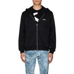 Studded-Dragon Cotton-Blend Terry Hoodie