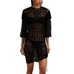 Lisal Cotton Crochet Fitted Dress