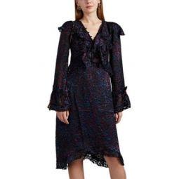 Belloy Leopard-Pattern Fil Coupe Dress