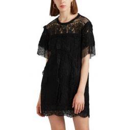Pike Cotton-Blend Lace Shift Dress