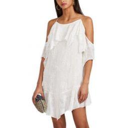 Sabel Embroidered Cold-Shoulder Dress