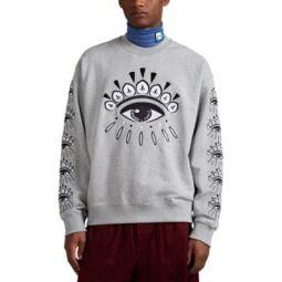 Eye-Embroidered Cotton Terry Sweatshirt