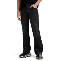 Faded Boot-Cut Jeans