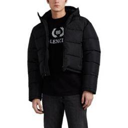 Tech-Ripstop Crop Puffer Jacket