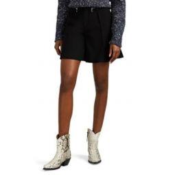 Zip-Detailed Wool Shorts