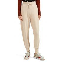 Metallic-Logo-Pocket Cashmere Jogger Pants