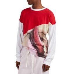 Tongue-Print Jersey T-Shirt